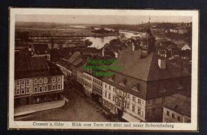 Ansichtskarte Krosno Odrza?skie Crossen an der Oder 1927 Blick vom Turm