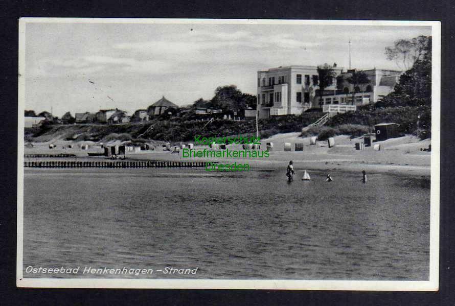 Ansichtskarte Ostseebad Henkenhagen Strand 1938 Ustronie Morskie