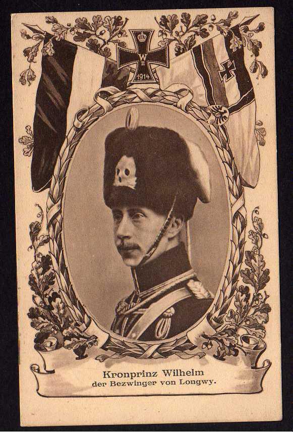 Ansichtskarte Kronprinz Friedrich Wilhelm Ernst von Preußen 1915 Lonwy