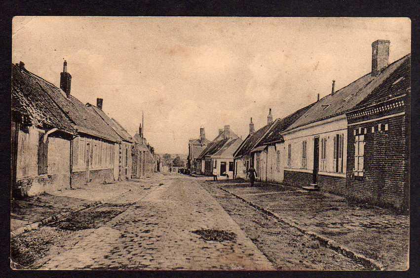Ansichtskarte Ercheu Feldpost 1918 Dorfstraße