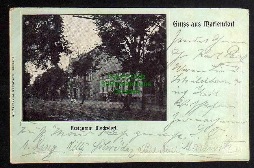 Ansichtskarte Berlin Mariendorf Restaurant Blocksdorf 1902