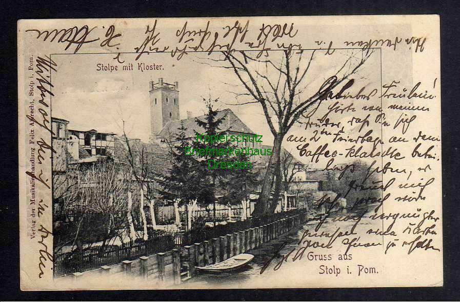 Ansichtskarte Stolp i. Pom. Stolpe mit Kloster 1903