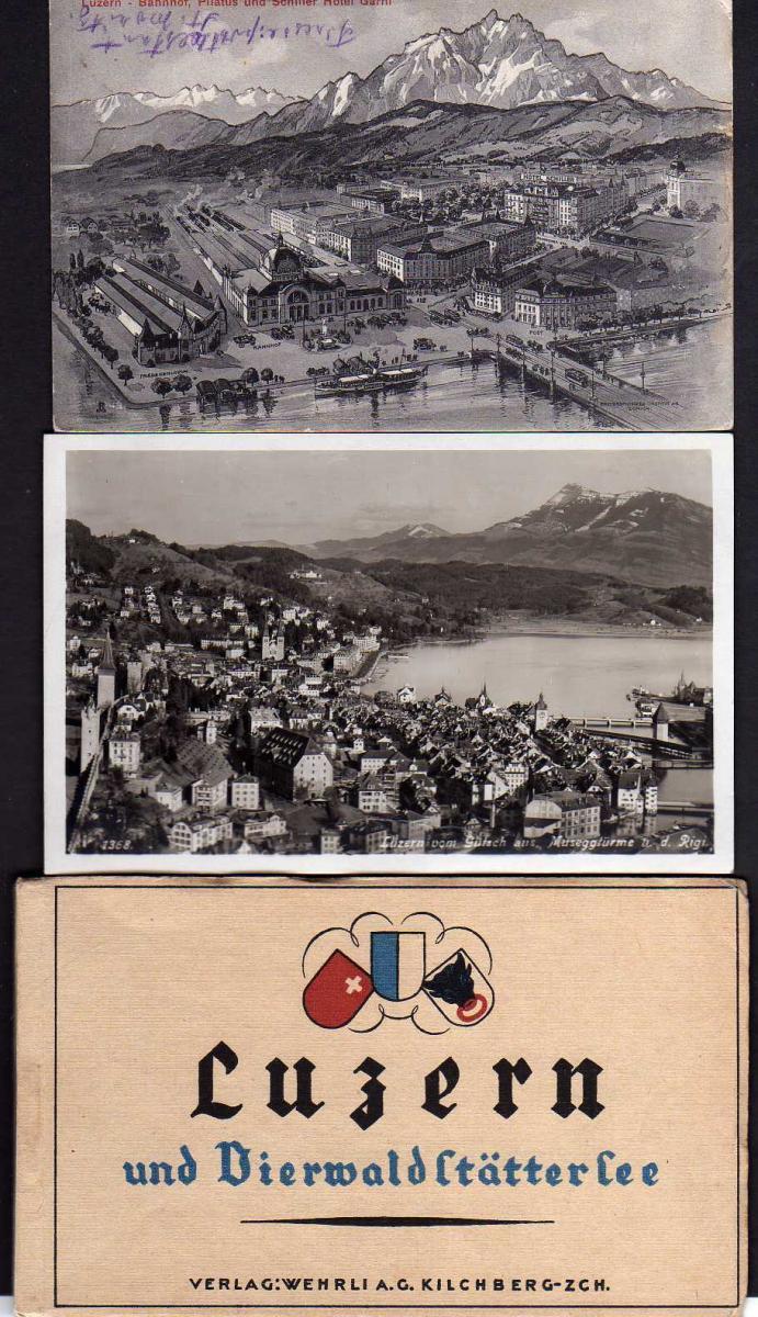 9 Ansichtskarte Luzern Flüelen Weggis Vitznau Brunnen … 1910 1932