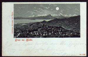 Ansichtskarte Heiden AR 1899 Mondscheinkarte
