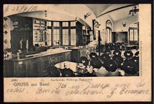 Ansichtskarte Basel Greifenbräu Horburg Restaurant 1910