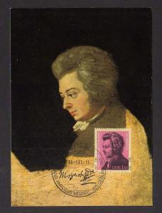 Maximumkarte DDR 1981 2572 aus Block 62 Mozart Komponist
