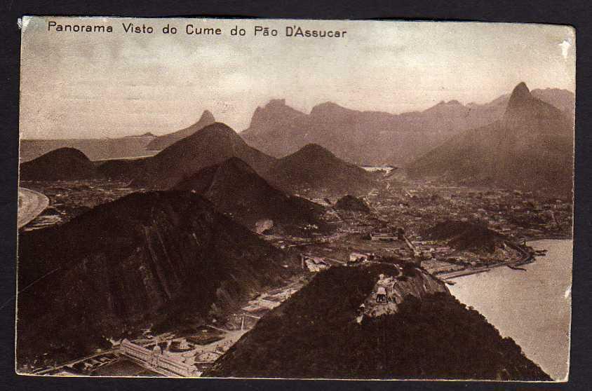 Ansichtskarte Panorama Visto do Cume do Pao D´Assucar gelaufen Rio de Janeiro