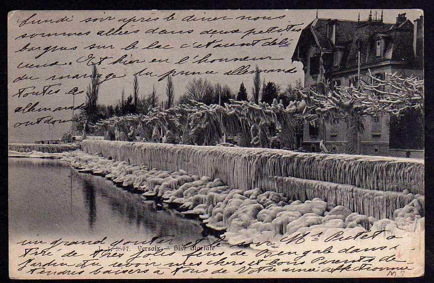 Ansichtskarte Versoix 1905 Bise glacile a Geneve  1905