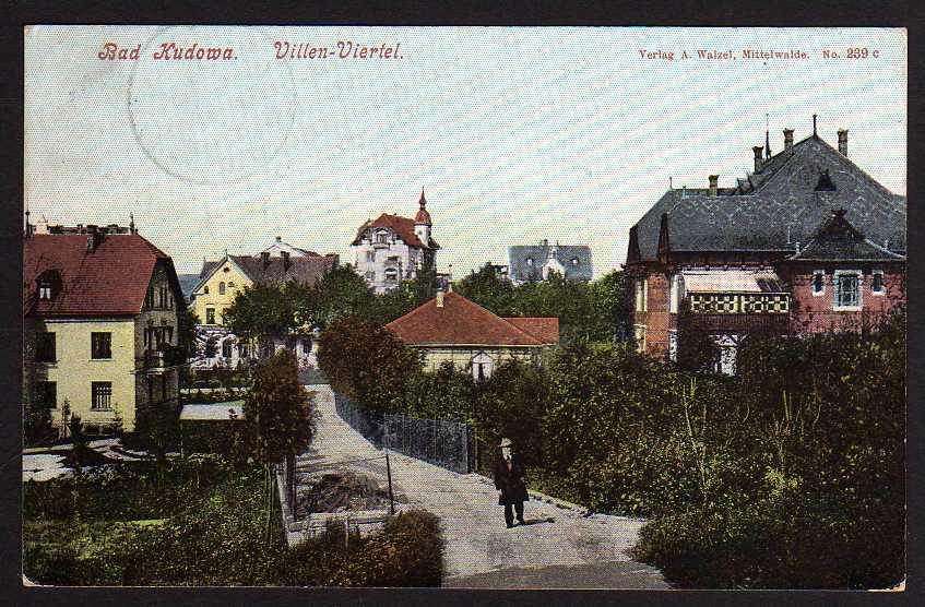 Ansichtskarte Bad Kudowa Villen Viertel 1906
