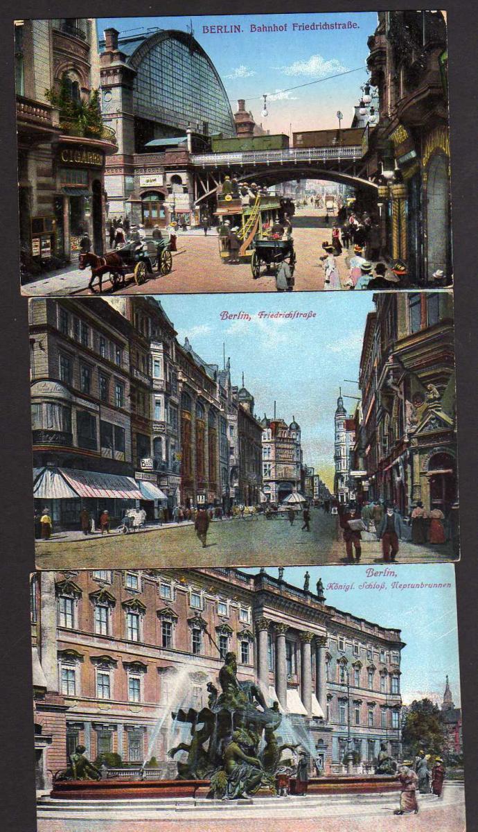 7 Ansichtskarte Berlin Feldpost 1915 1918 Bahnhof Schloß Feldpost