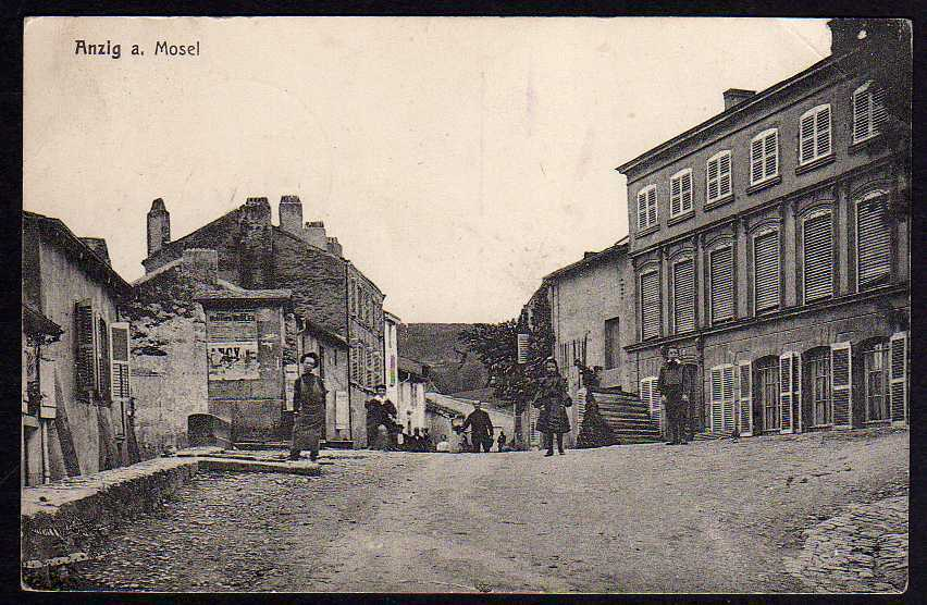 Ansichtskarte Anzig a. Mosel Ancy-sur-Moselle Feldpost 1917 Feldpostexpedition 749