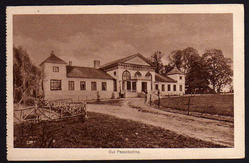 Ansichtskarte Gut Pessotochna 1917 Feldpost 1917 Proviantamt