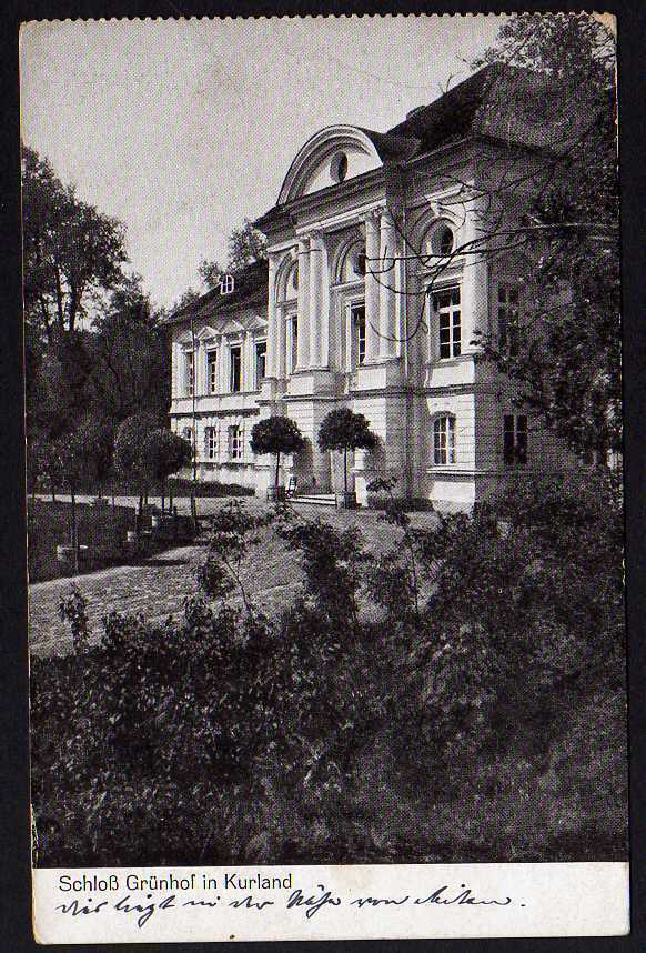 Ansichtskarte Schloß Grünhof in Kurland 1917 Lettland Kurzeme