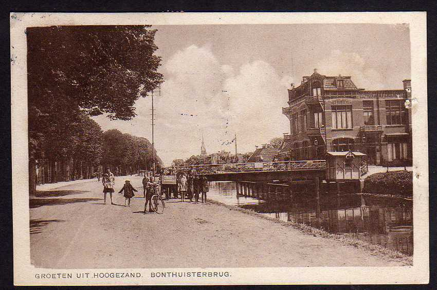 Ansichtskarte Hoogezand Bonthuisterbrug 1930