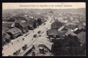 Ansichtskarte Kelme Kielmy Litauen Ostrowo 1915 Gegenstück z verwüsteten Ostpreussen