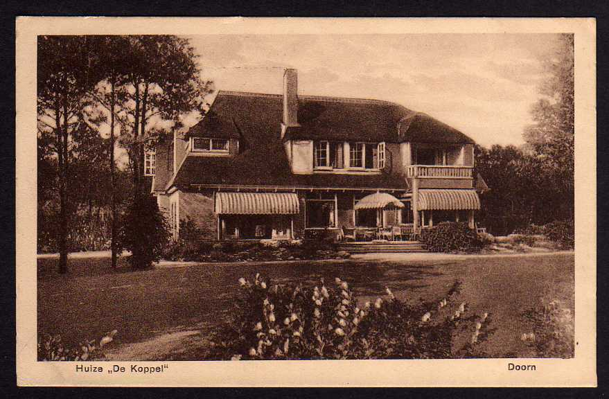 Ansichtskarte Doorn Huize De Koppel 1934