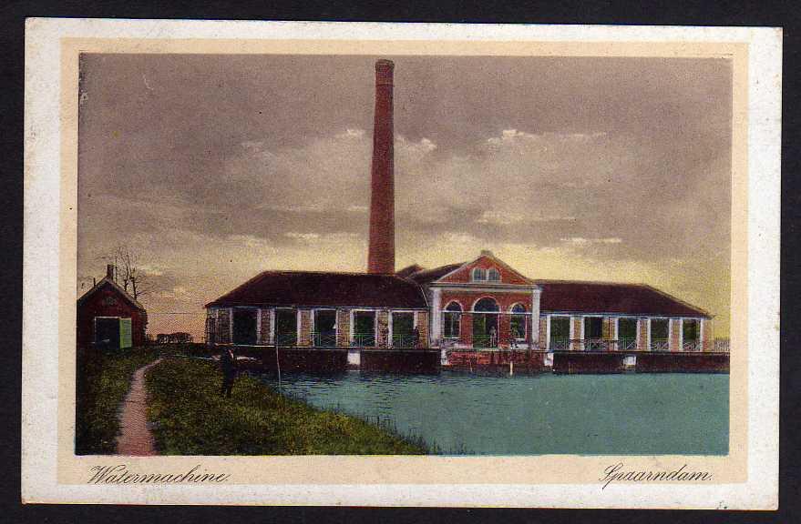 Ansichtskarte Watermachine Spaarndam 1930