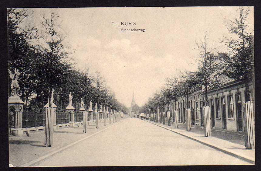 Ansichtskarte Tilburg Bredascheweg 1907 , gelaufen 1918