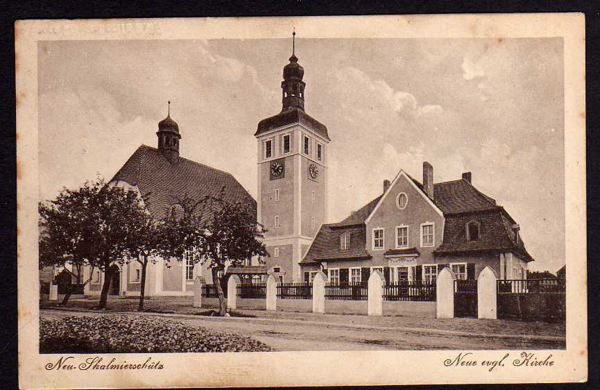Ansichtskarte Neu Skalmierschütz Neue engl. Kirche 1916 Nowe Skalmierzyce