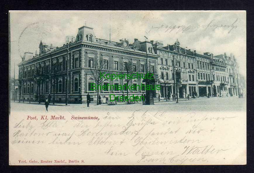 Ansichtskarte Swinemünde 1900 Post Kl. Markt