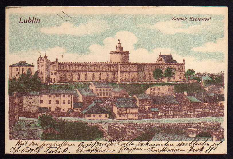 Ansichtskarte Lublin Zamek Krolewski Feldpost 1915