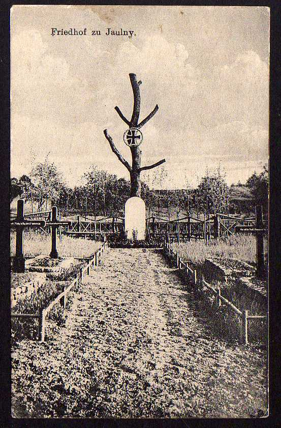 Ansichtskarte Friedhof zu Jaulny Lothringen Feldpost 1917