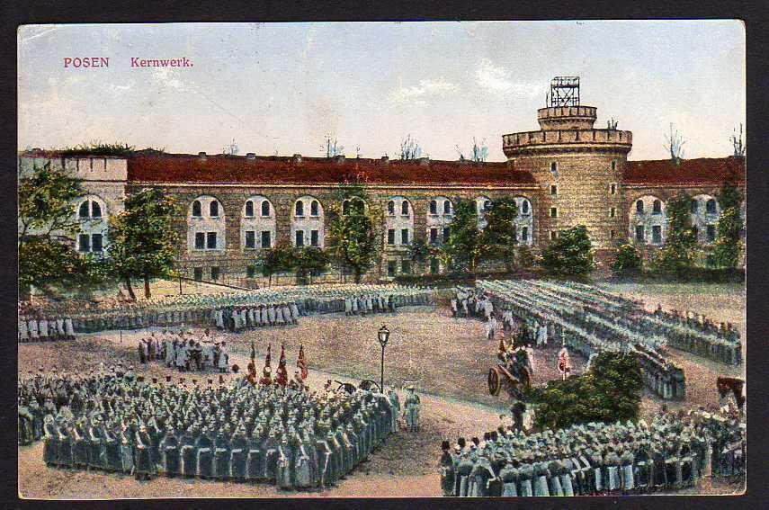 Ansichtskarte Posen Kernwerk 1915 Militär Aufstellung Feldpost