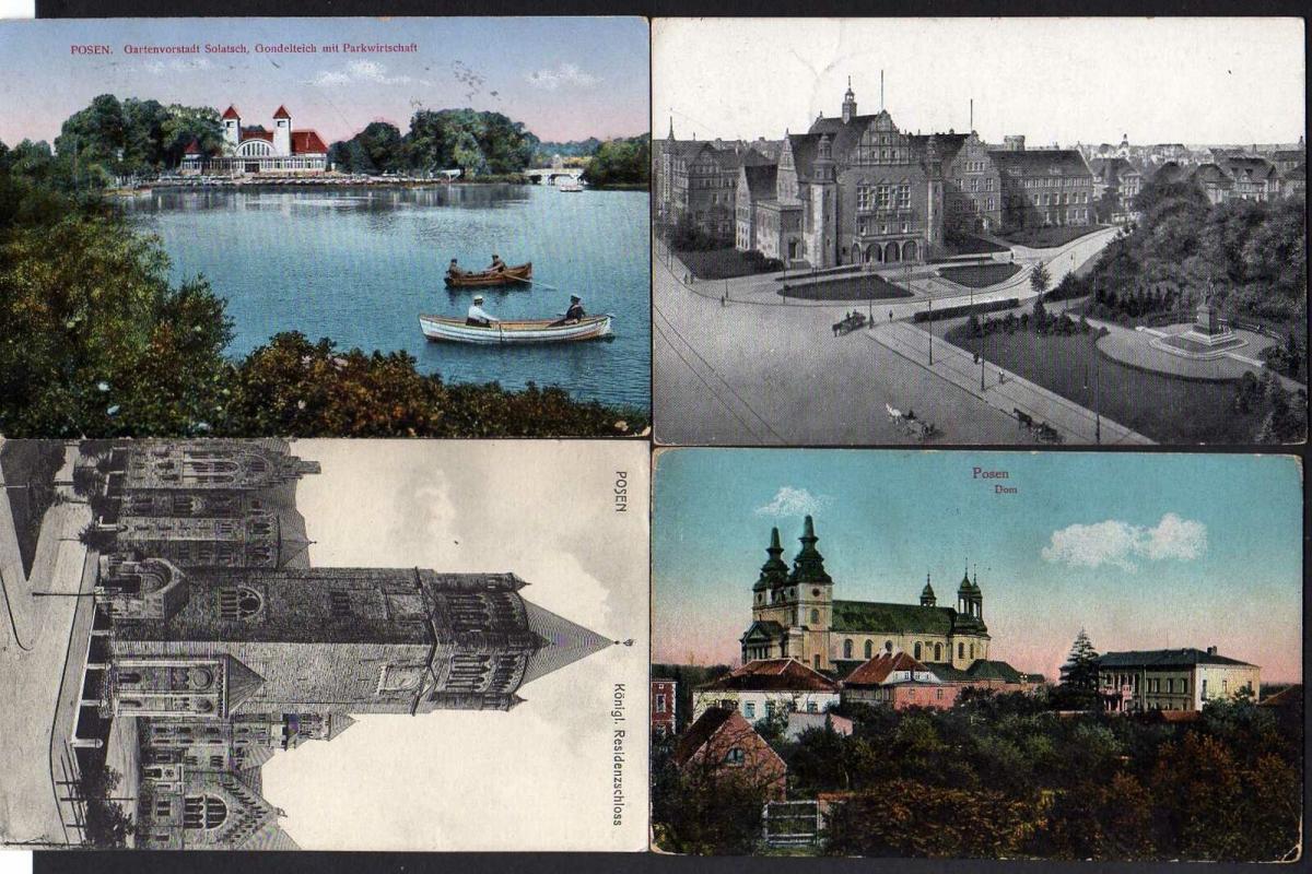 8 Ansichtskarte Posen neue Kaiserpfalz Akademie Schloß Dom Solatsch 1915 1916 1917
