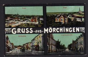 Ansichtskarte Mörchingen Morhange Lothringen Marktplatz Kapellenstraße 1917