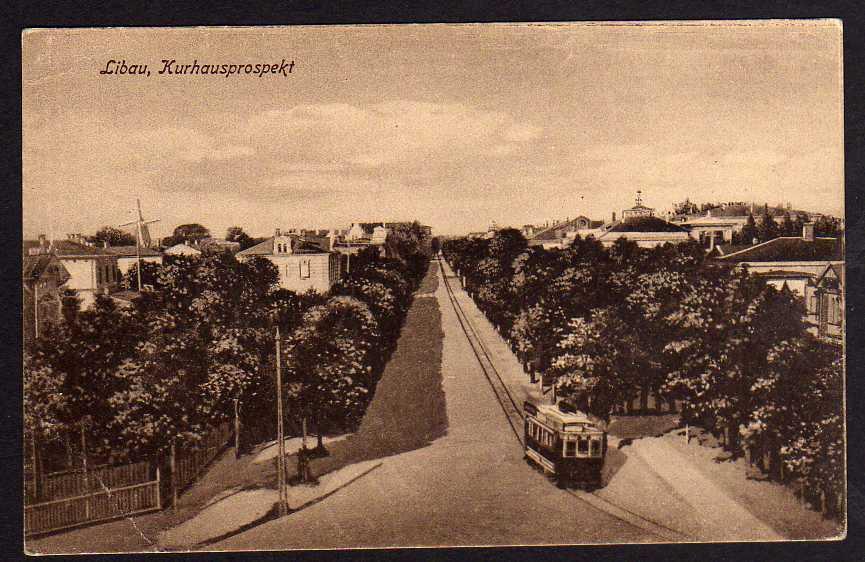 Ansichtskarte Libau Kurland Liepaja Lettland Kurhausprospekt