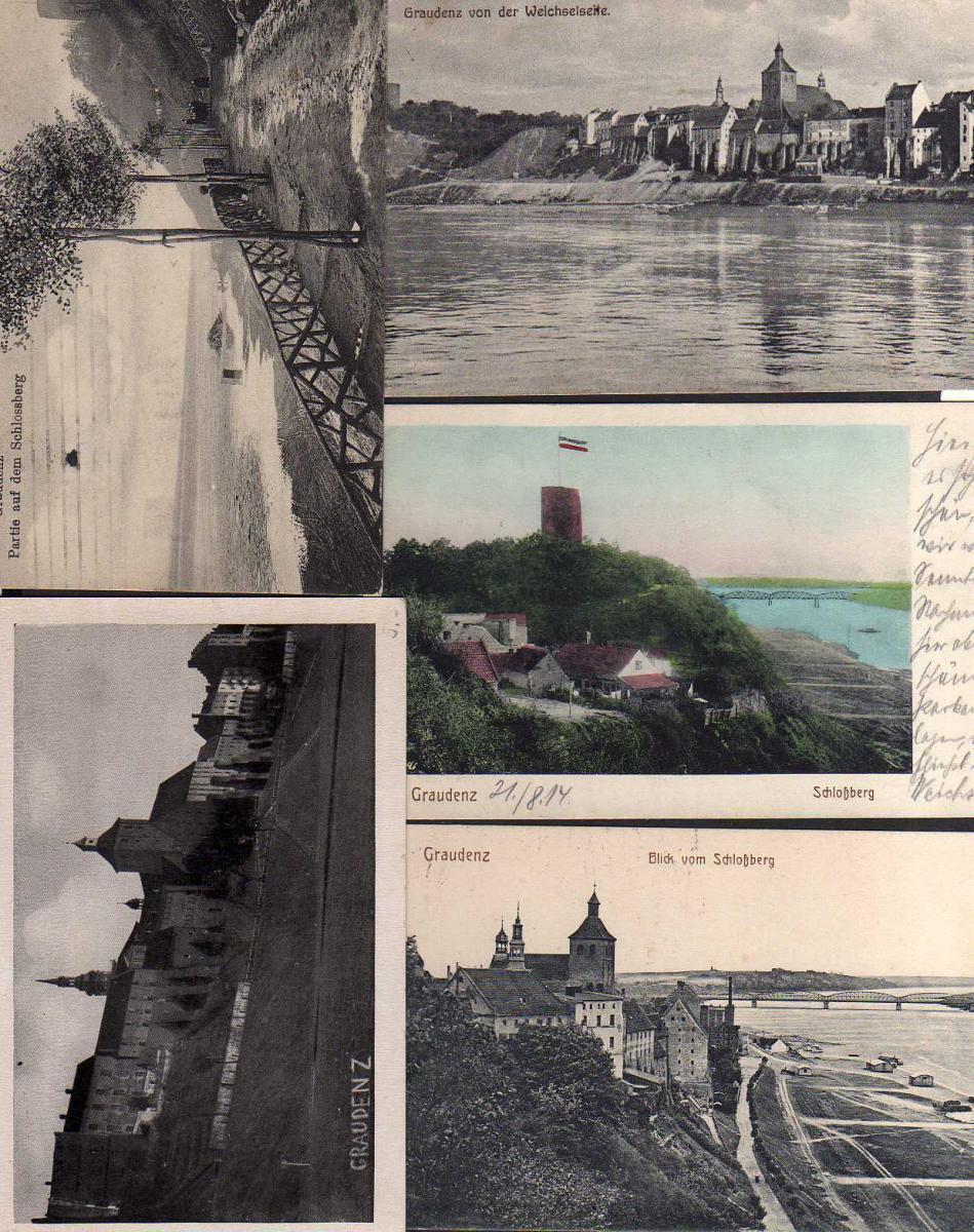 5 Ansichtskarte Grudziadz Graudenz Feldpost 1916 Festung 1940