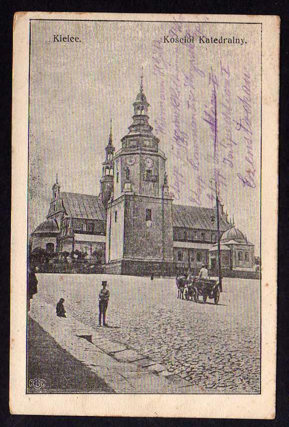 Ansichtskarte Kielce Kirche Kathedrale 1915 Feldpost