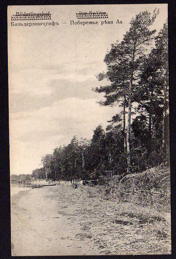 Ansichtskarte Bulduri Bilderlingshof  Aa Ufer 1917 Jürmala Feldpost Lettland