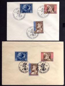 B1176 2x Deutsches Reich 820 822 FDC SST Wien 12.10.42 Europäischer Postkongress