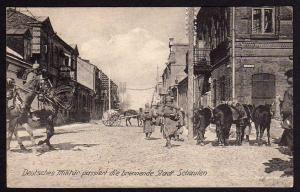 Schaulen Siauliai Feldpost 1918 Deutsches Militär Ruinen