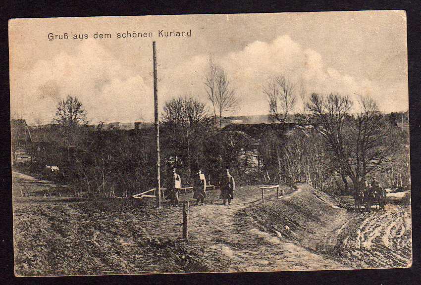 Ansichtskarte Kurland ca. 1918 Militär Kurzeme