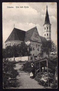 Schaulen Siauliai Röm. Kath. Kirche 1915 Feldpost Etappen Hilfsbäckerei