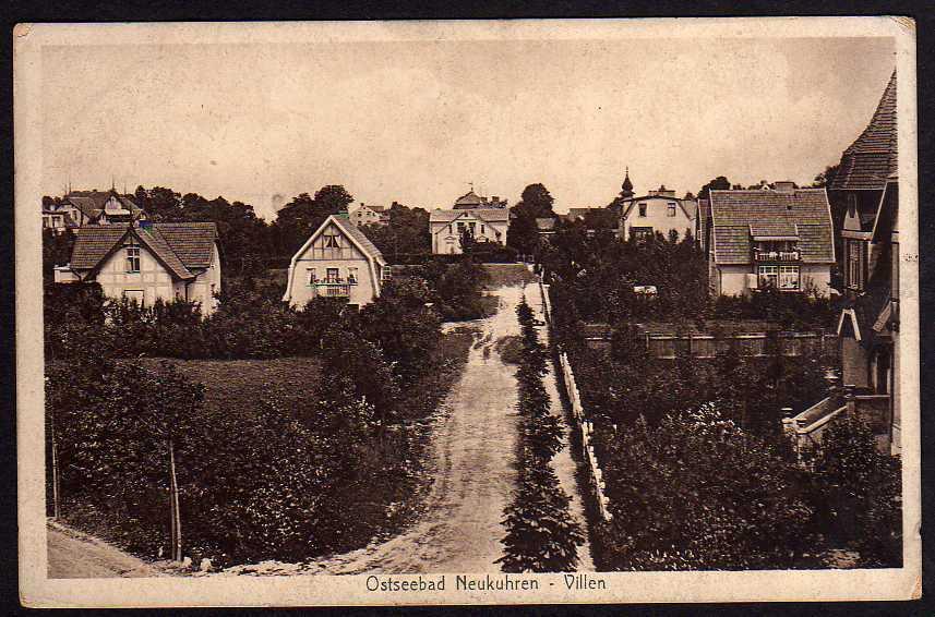 Ansichtskarte Pionerski Neukuhren Villen ca. 1930 Samland