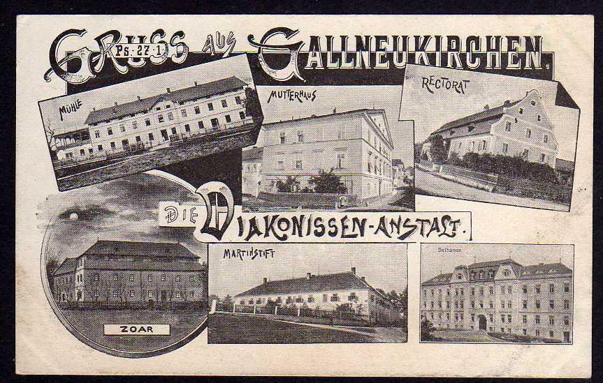 Ansichtskarte Gallneukirchen Mühle Rectorat Zoar Martinstift Oberösterreich