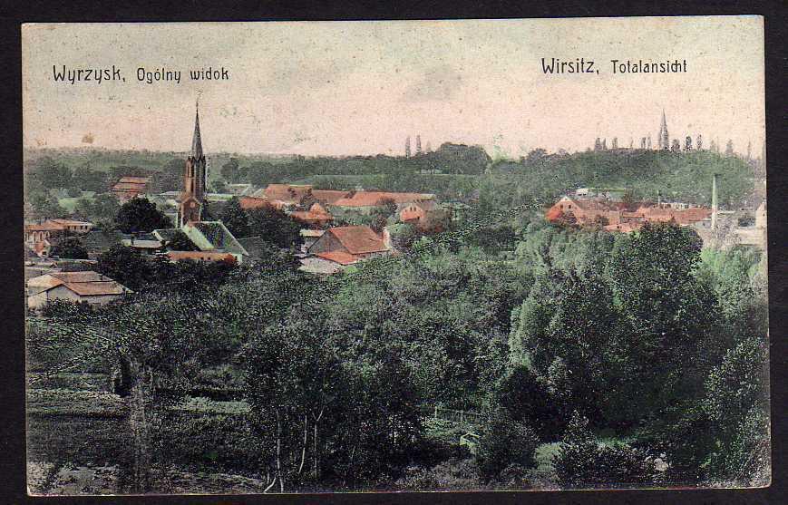 Ansichtskarte Wyrzysk Wirsitz 1919 Totalansicht Provinz Posen