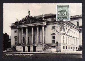 Maximumkarte DDR 1955 492 Deutsche Staatsoper Berlin SST 1956 Tag der Bri