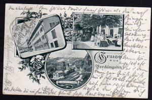 Ansichtskarte Berchtesgaden Gasthaus zum goldenen Bären 1901