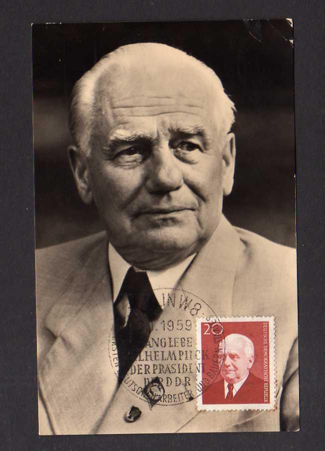 Maximumkarten DDR 1959 673 Wilhelm Pieck 83. Geburtstag Foto
