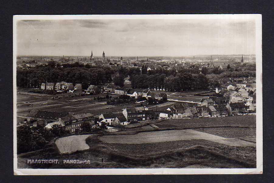 Ansichtskarte Maastricht Fotokarte Panorama 1940 Feldpost