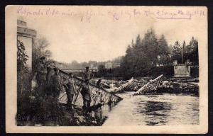 Ansichtskarte Dun Maas Militär zerstörte Brücke 1916 Lothringen Feldpost Station 97