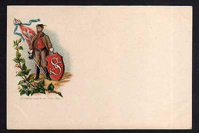 Ansichtskarte Soldat Säbel Wappen K S L Österreich Ungarn ?