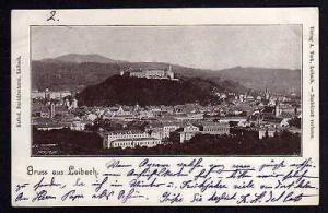 Ansichtskarte Ljubljana Laibach 1898 Slowenien