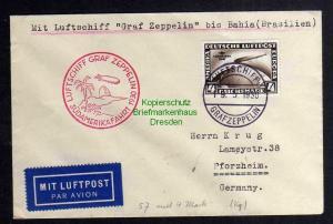 Brief DR 439 4 RM Südamerikafahrt Luftschiff Graf Zeppelin Sieger 57