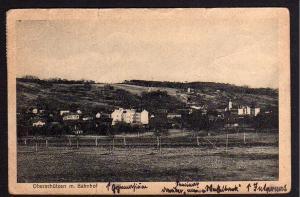 Ansichtskarte Oberschützen mit Bahnhof Seminar Internat 1923 Burgenland Österreich