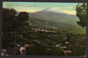 Ansichtskarte Teneriffa Tenerife Kanaren 1939 Valle de la Orotava El Teide Reckenwald